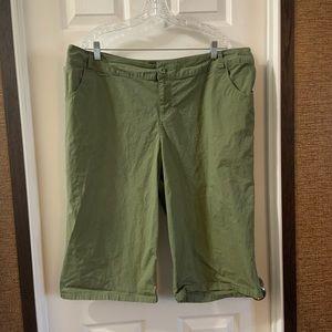 Lane Bryant Army Green Shorts/capris size 20